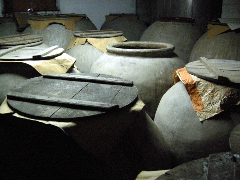 古代製法シェリー酒の発酵タンク